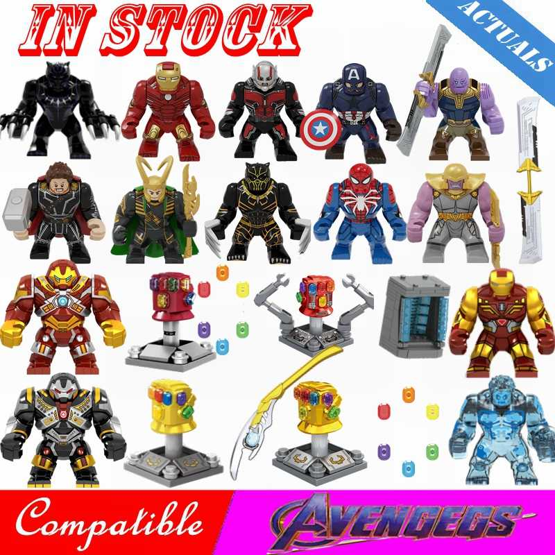 สำหรับ Legoing Thanos Edged Sword Ant-Man Infinity Gauntlet ถุงมือ Infinity หินบล็อกอาคาร Marvel Avengers 4 Legoings