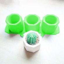 Silicone Mold Creative Geometric Polygonal Concrete Flower Pot Vase Mould Office