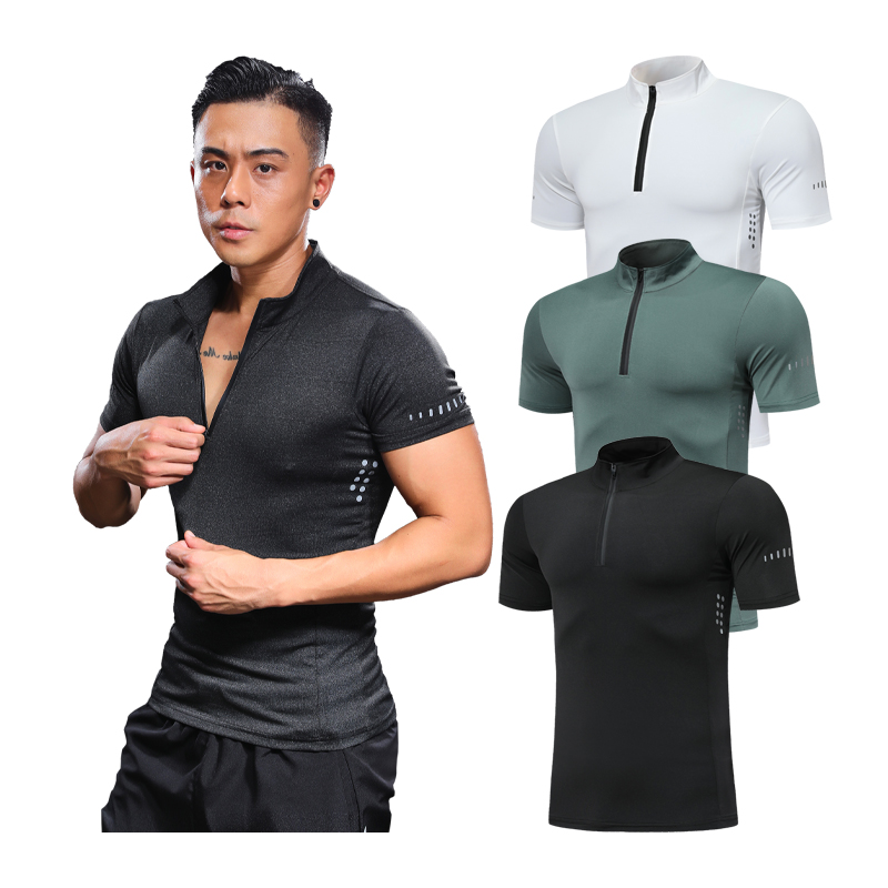 Gym Training Tee Stretch Running Sports T-shirt Breathable Quick-Drying Short Sleeves Workout Golf Tennis Badminton Shirts