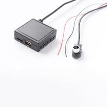Biurlink Car Bluetooth Music Adapter Aux USB Audio Box Microphone Handsfree Kit for Alpine Radio Ai-net Audio Port