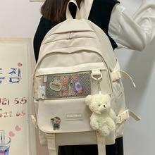 JOYPESSIE Women Backpack Fashion Canvas Men Laptop Rucksack for Lovers Leisure Bag Kawaii College Girls Travel Shoulder Mochila