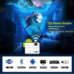 Image 2 - قوية Q5 جهاز عرض صغير 2600 لومينز 800*600 ديسيبل متوحد الخواص دعم 720P LED المحمولة السينما المنزلية أندرويد اللاسلكية مزامنة عرض للهاتف