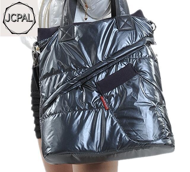 2019 Winter  Women's Bag New Gloves Bag Space Cotton Clothing Bag Down Bag Shoulder Diagonal Package Christmas Gift
