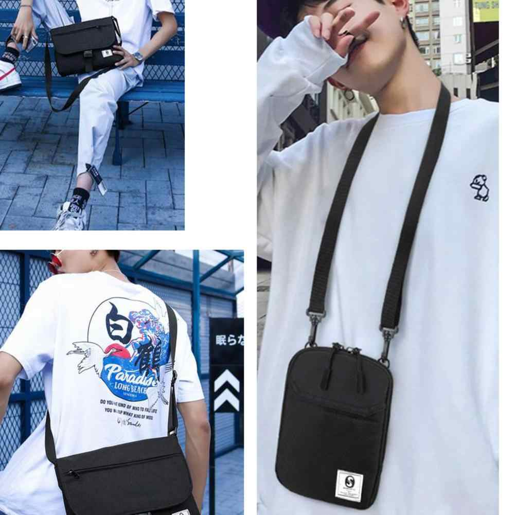 87b6d78abb8f Men Small Square Single Shoulder Bag Mini Hip Hop Style Mobile Phone Casual  Crossbody Bags For Women Pouch Travel Wallet Handbag