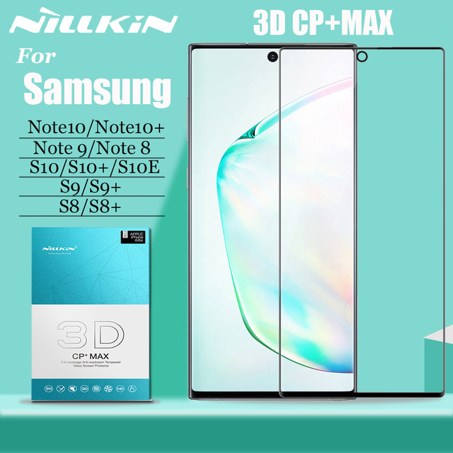 Nillkin 삼성 note 10 s10 s9 s8 plus s10e 유리 스크린 보호기 3d full cover 강화 유리 (삼성 note 10/9/8 5g 용)