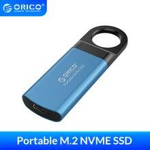 Внешний твердотельный накопитель ORICO Mini, 1 ТБ, 128 ГБ, 256 ГБ, 512 ГБ, M2 NVME, портативный накопитель SSD, USB C 3,1, 10 Гб/с, внешний твердотельный накопитель