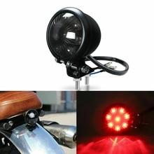 Lamp Bobber Tail-Light-Brake Cafe Racer Motorcycle Rear LED Red 12V for Adjustable