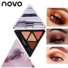 NOVO Triangle Butter Glitter Eyeshadow Nude 4 Colors Brighten Eye Makeup Shimmer
