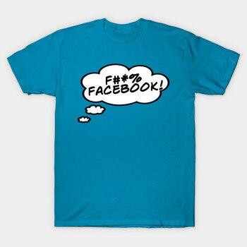 ¡Hombres camiseta F # % Facebook! Camiseta para mujer