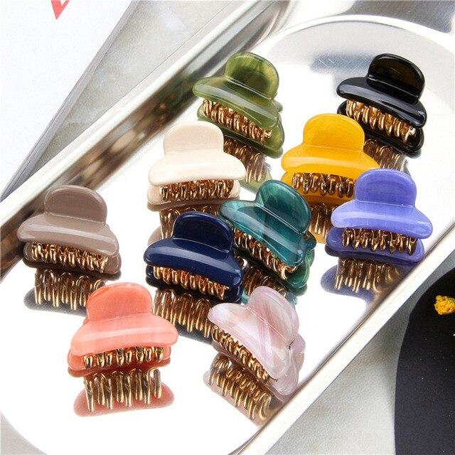 Épingles à cheveux en acrylique acétique colorées pour filles, Barrettes en forme de crabe pour femmes, pince à cheveux, accessoires de coiffure, couvre-chef
