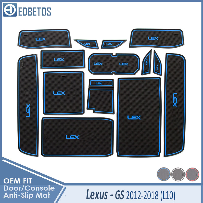 Door Groove Mat For <font><b>Lexus</b></font> <font><b>GS</b></font> 250 300 <font><b>350</b></font> 450h <font><b>F</b></font> <font><b>SPORT</b></font> 2012 2013 2014 2015 2016 2017 2018 Accessories Anti-Slip Mat Gate Slot image