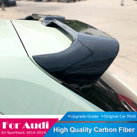 Fit For Audi A3 Sportback 2014 2015 2016 2017 2018 2019 Carbon Fiber Roof Spoiler Tail Trunk Boot Wing Roof Spoiler Protector