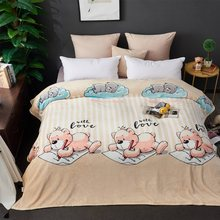 Padrão de sono dos desenhos animados do bebê cobertor colcha 230x250cm Alta Densidade Super Macio Cobertor de Flanela para on para o sofá/Cama/Carro
