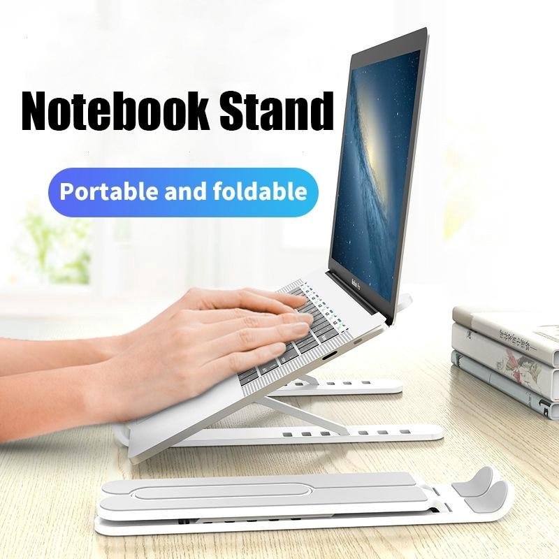 Adjustable Foldable Laptop Stand Desktop Notebook Holder Portable Laptop Tray Desk Riser for Macbook Pro Air IPad Pro DELL HP