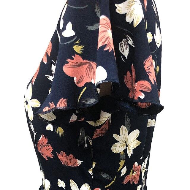 Women Dress 2020 Summer V-neck Floral Print Chiffon Dress Boho Style Short Party Beach Dresses Vestidos de fiesta 5