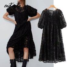 В английском стиле; в винтажном стиле; с текстурой газовое платье свободного кроя с подкладкой вечерние миди za Платье женское платье vestidos de fiesta de noche vestidos Блейзер Топы