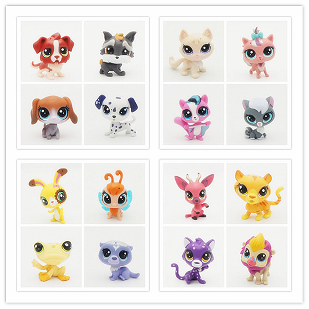 Many Kinds Of New Pet Collection Cat Dog Child Girl Action Figures Cute Toys Loose