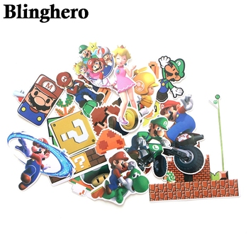 CA661 29pcs/set Anime Game Mario Cartoon Stickers Waterproof Suitcase Diy Laptop Guitar Skateboard Toys Lovely