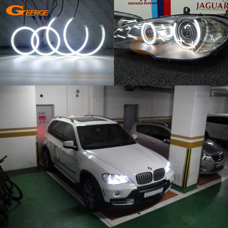 Uitstekende Ultra Heldere Smd Led Angel Eyes Halo Rings Drl Auto Styling Voor Bmw X5 E70 2007 2008 2009 2010 2011 2012 2013