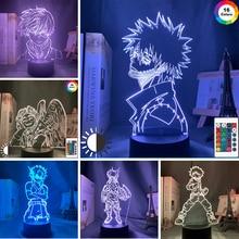 Anime My Hero Academia Dabi Led Light Acrylic 3d Lamp for Bedroom Decor Cool Manga Gift for Him Rgb Colorful Night Light Dabi