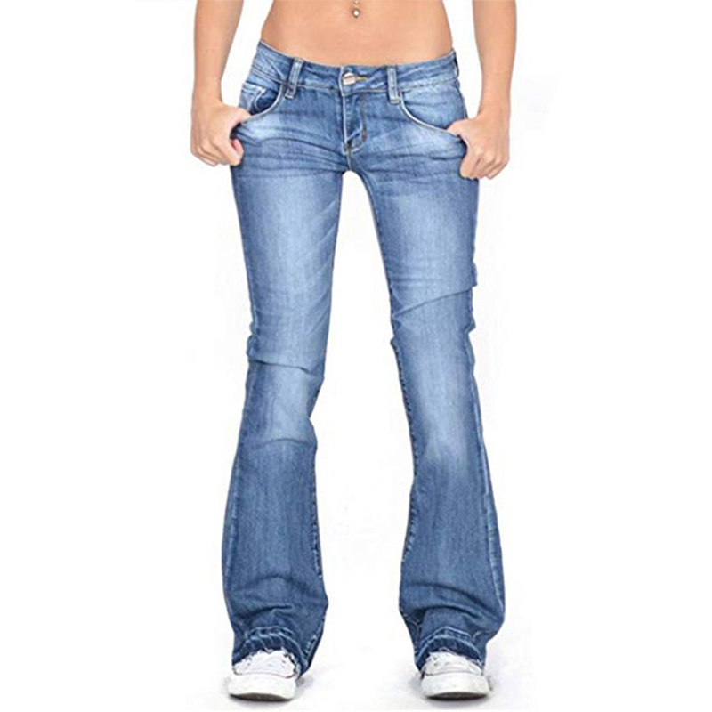 Denim flare   jeans   Women high waist Retro skinny   jeans   Wide Leg Trousers ladies Casual bell bottom   jeans   Flare Pant plus size 4XL