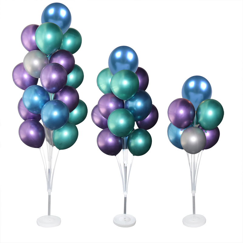 7/10 Tube Birthday Balloon Stand With Stick Holder For Wedding Decorations 9