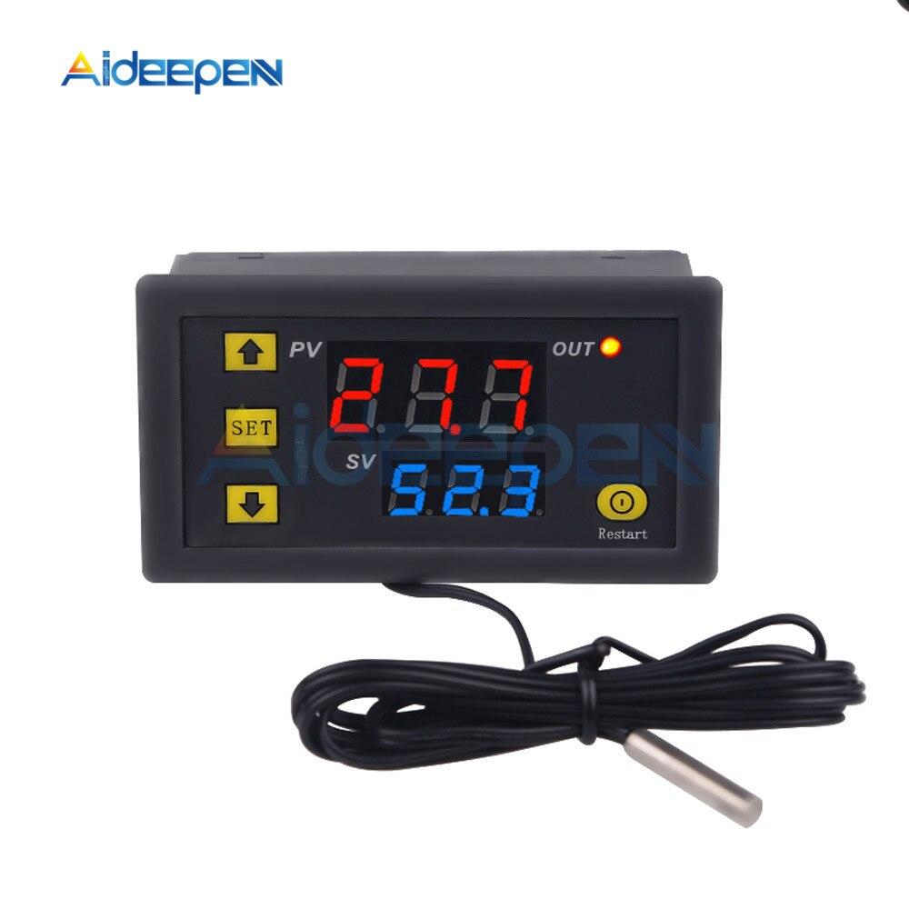 Цифровой мини-регулятор температуры W3230, 12 В, 24 В, 220 В, регулятор термостата, регулятор нагрева и охлаждения, Терморегулятор с датчиком