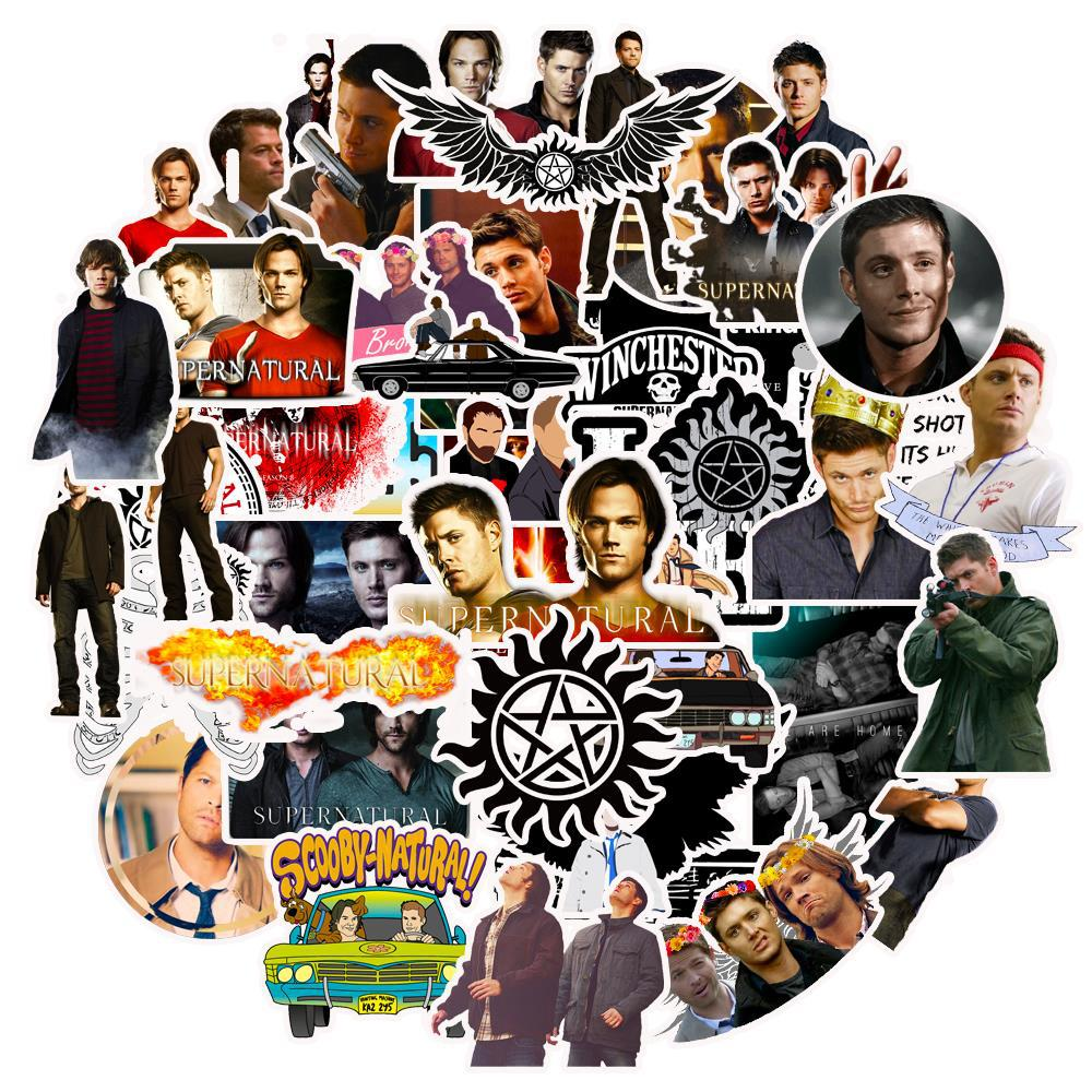 10/30/50pcs Pack Supernatural Stickers Waterproof PVC Skateboard Luggage Snowboard Motorcycle Car Decal Funny Sticker Kids Toy
