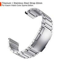 Correa de aleación de titanio y acero inoxidable para reloj Mi Xiaomi, pulsera deportiva de edición deportiva a Color
