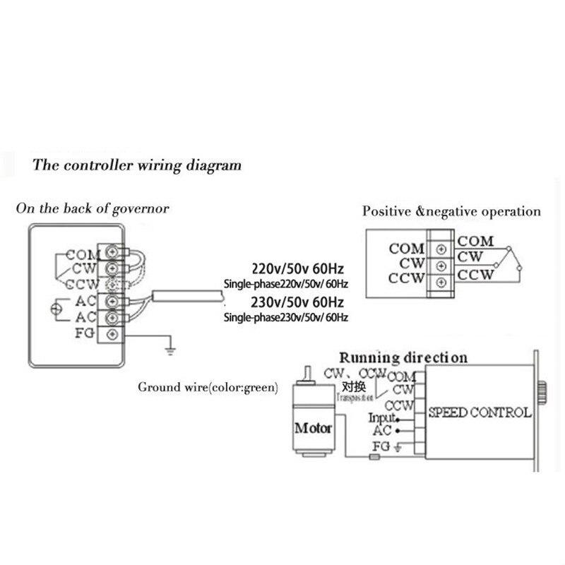 1pc 6 W-250 W AC 220V 50/60HZ Motor Speed Controller Punkt Regler Vorwärts und Rückwärts Motor Controller