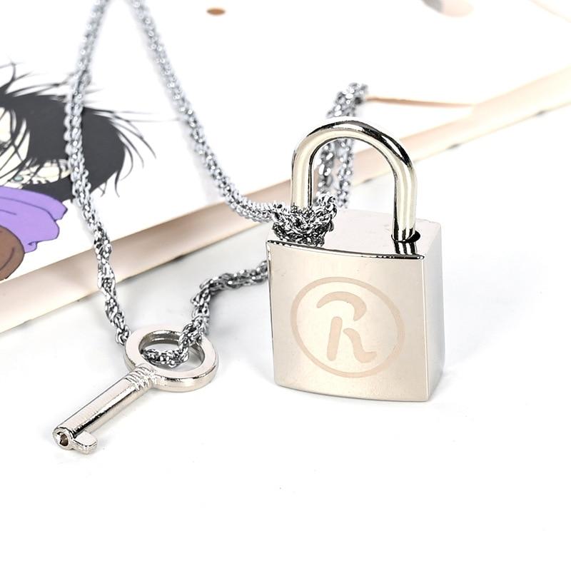 Collar de llaves con colgante 2 en 1 de Anime Ai Yazawa Oosaki, juego de figuras de Cosplay, cadenas de moda para regalo de Navidad