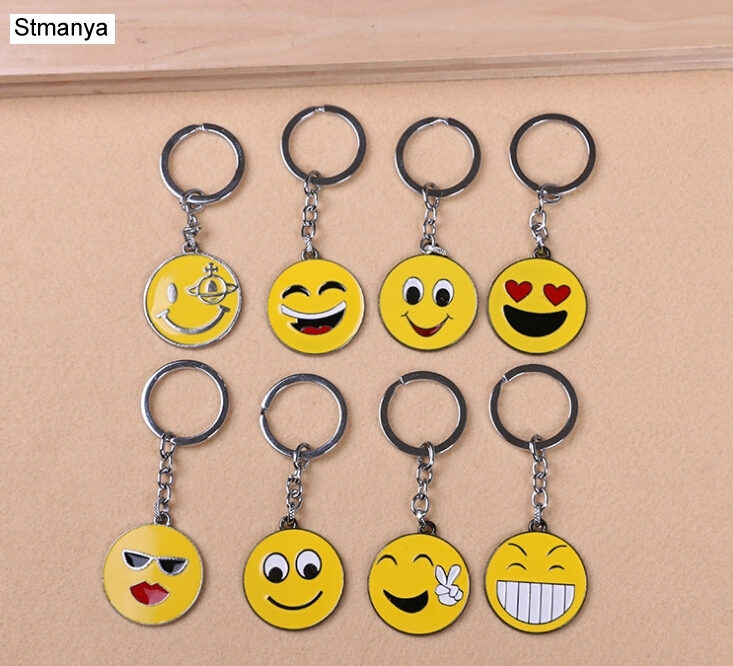 Smile Face Key Chain - Fashion Cute Smiley Metal Keychain Pendant Holder For Women Men Gift Key Ring 17341