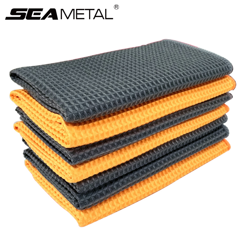 Toalha de limpeza automotiva, toalha de limpeza automotiva, 2 peças, 40*40 cm, ferramenta de limpeza de microfibra, para toyota pano de secagem do carro