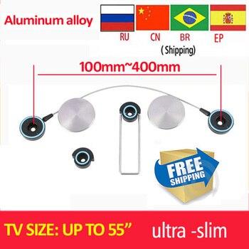 """Envío Gratis LED-100M soporte de aleación de aluminio ultradelgado LED 15 """"46"""" 50 """"55"""" soporte de pared de Tv LED soporte de tv soporte de Tv envío gratis"""