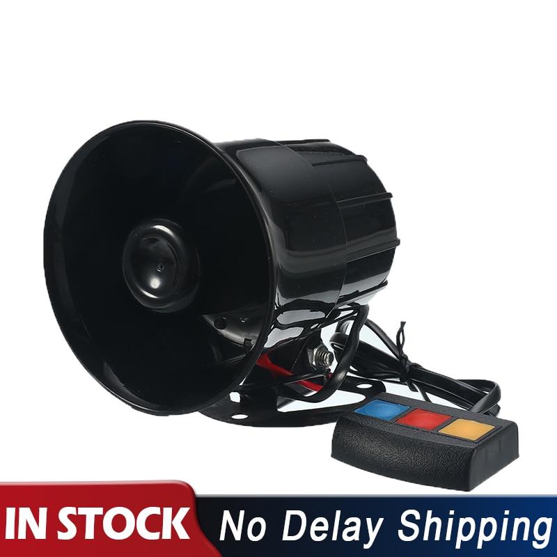 100W 12V 8 Sound Loud Car Warning Alarm Police Fire Siren Horn PA Speaker System