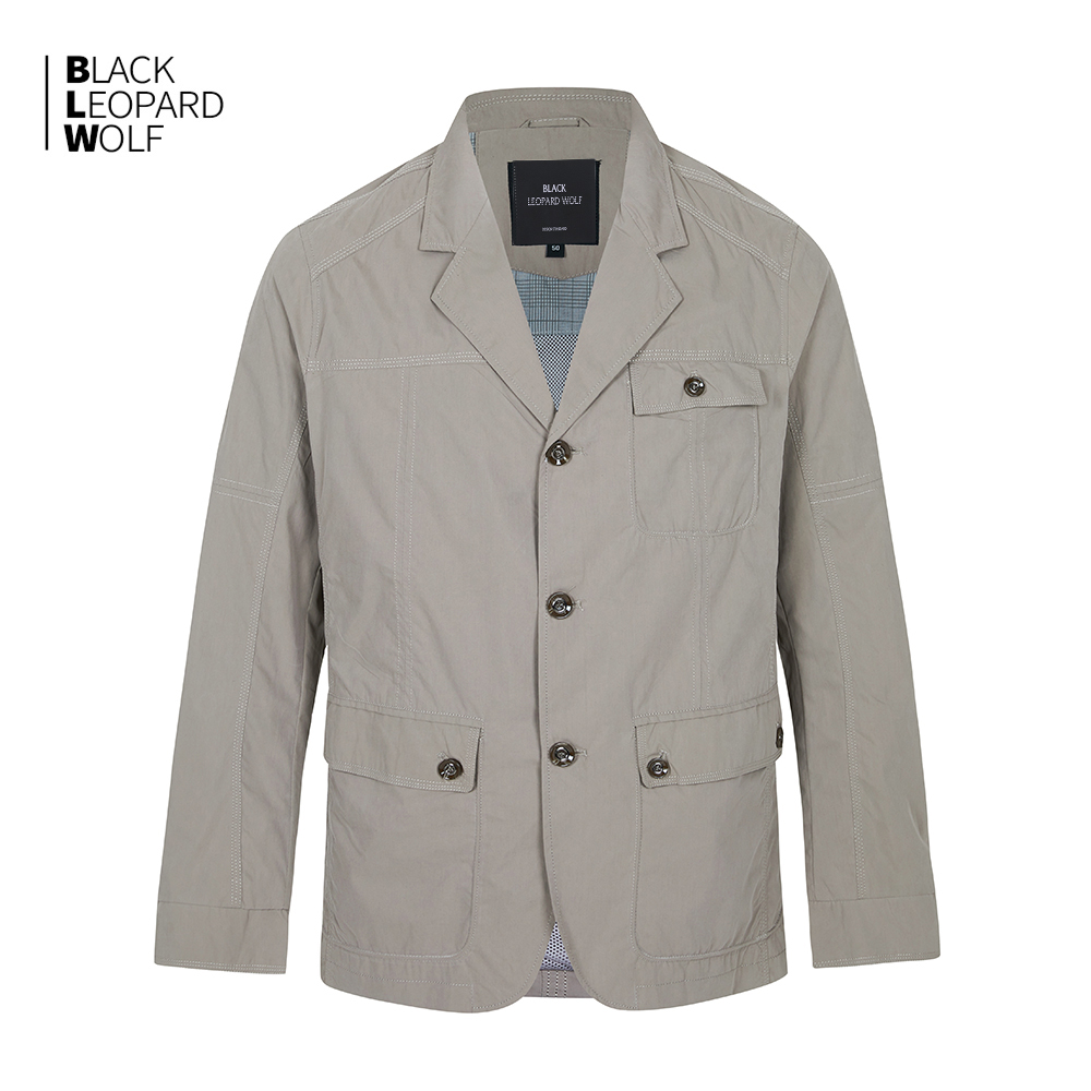 Blackleopardwolf man's clothing 2020 Spring and summer new jacket for man luxury blazer men Casual thin coat mens jackets 12083 2