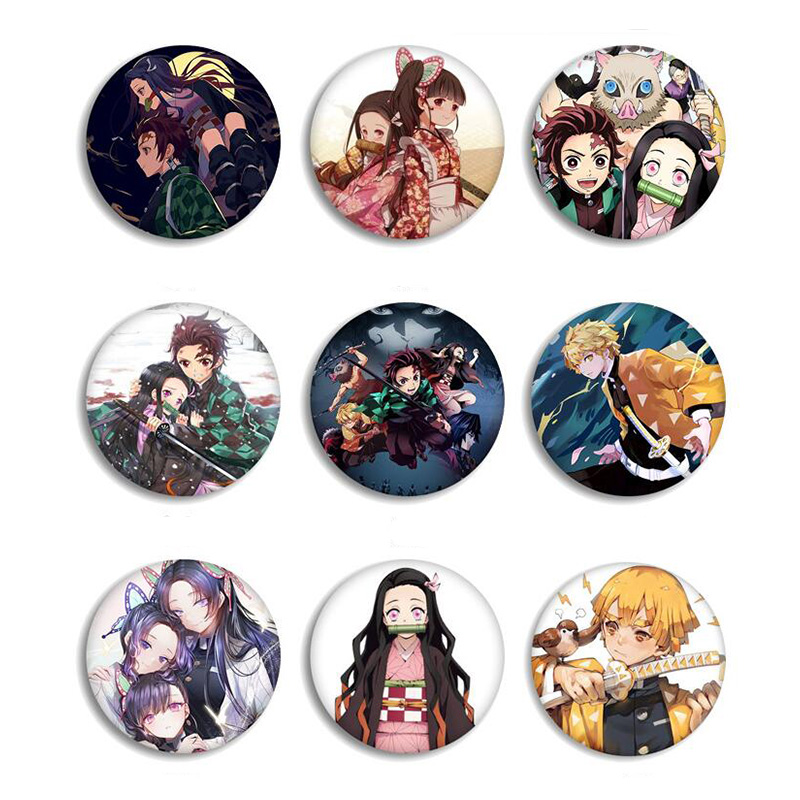 Anime Demon Slayer Kimetsu No Yaiba Kamado Tanjirou Pins For Backpacks Cartoon Pin Badge Decoration Brooches Metal Badges For