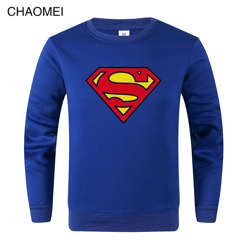 2019 Hot Sale Sweatshirt Superman Sweatshirt Men Super Hero Hoodie Sweatshirts Fleece Streetwear Pullover C110