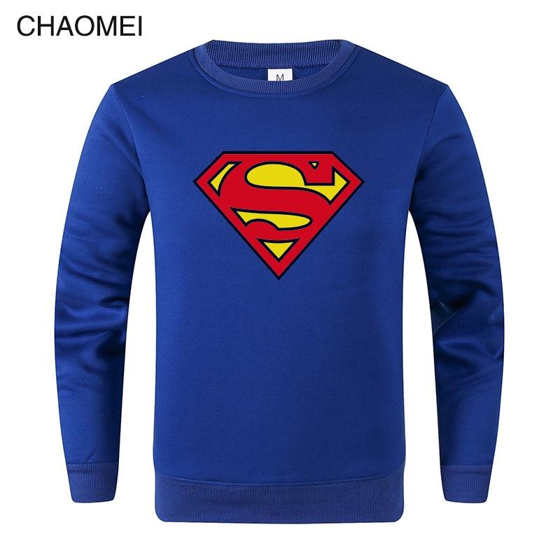 2019 Hot Sale Sweatshirt Superman Sweatshirt Men Super Hero Hoodie Sweatshirts Fleece Streetwear Pullover C110