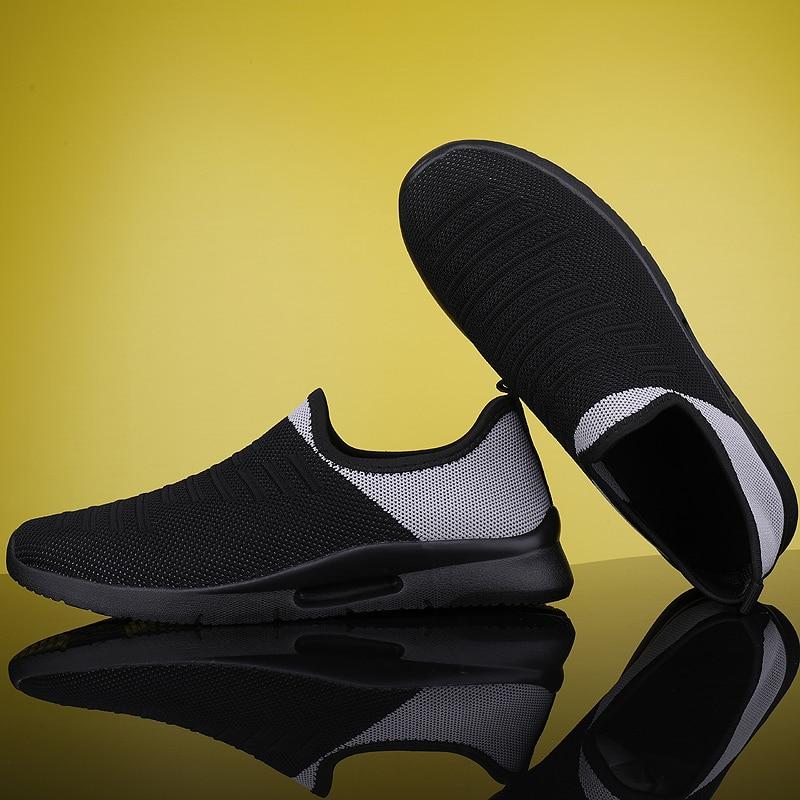 2020 Mens Casual Shoes Men Slip-on Sock Sneakers Breathable Light Leisue Walking Jogging Running Tenis Masculino Adulto 4