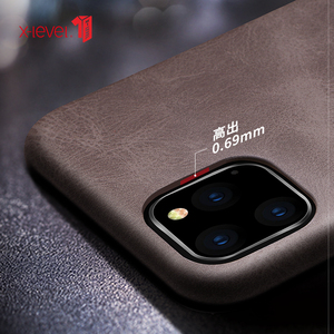 Image 3 - For iPhone 11 Pro Max 2019 Case, X Level Luxury Vintage Leather Cover Case for iPhone 11 Pro 5.8 / 6.1 Back Case Brown