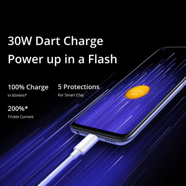 realme 7 5G 6.5''FHD+ Dimensity 800U 6GB 128GB 120Hz Display 48MP Camera 5000mAh 30W Dart Charge NFC Mobile Phone 6