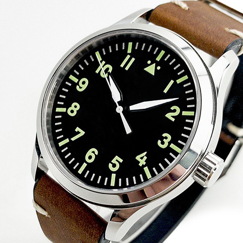 Automatic Mechanical Watch Men Military Pilot Miyota 8215 Or Sea Gull Sapphire Crystal 42mm Leather Male Wrist Clock Flieger Uhr