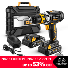 DEKO Power-Driver Battery Cordless-Drill Mini 1/2-Inch DC Wireless 2-Speed Lithium-Ion