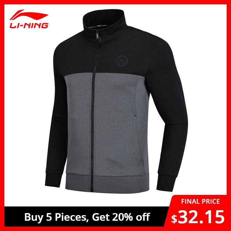 Li-Ning Men Wade Series Hoodie Regular Fit 82% Cotton 18% Polyester Comfort LiNing Li Ning Sports Tops Sweater AWDN669 MWW1412