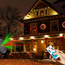 Outdoor Waterproof Laser Projector Christmas LED Stage Light Garden Lawn Light Star Projector Showers Home Party Decoration