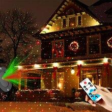 Proyector láser impermeable para exteriores, luz LED de Navidad para escenario, luz de césped y jardín, proyector de estrellas, ducha, decoración de fiesta en casa