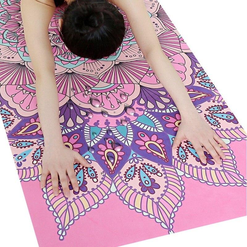 Printed Suede Yoga Mat Fitness Mat Fitness Yoga Sport Mat Gymnastics Mats with Yoga Bag Balance Pad Yogamat 183*68cm*1.5mm
