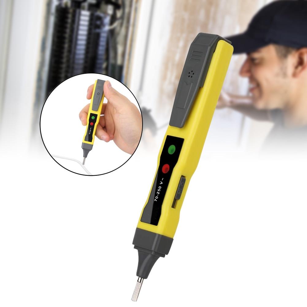 Digital Voltage Tester Pen AC/DC Continuity Meter 12-220V Buzzer Alarm Tool FKU66