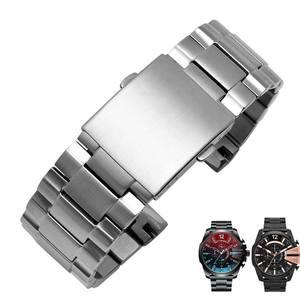Image 5 - Hoge kwaliteit band Voor DZ4318 4323 4283 4309 originele stijl roestvrij stalen horlogeband mannelijke grote horloge case armband 26mm zwart